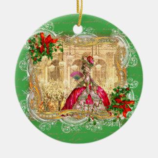 Marie Antoinette at Versailles Christmas Christmas Ornament