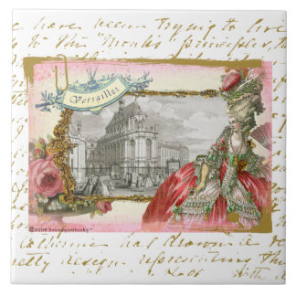 Marie Antoinette at Versailles Collage Art Tile