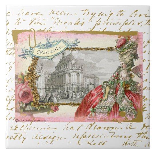 Marie Antoinette at Versailles Collage Art Tile