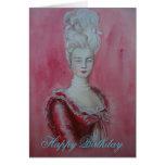 Marie Antoinette - birthday card