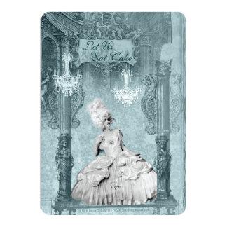 Marie Antoinette Bleu Let Us Eat Cake Invitations