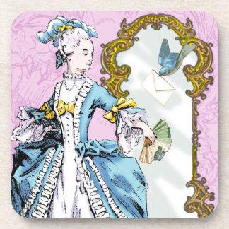 Marie Antoinette & Bluebird Beverage Coaster