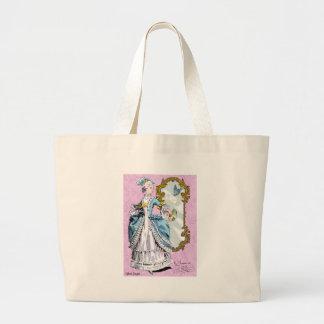 Marie Antoinette & Bluebird Jumbo Tote Bag