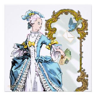 Marie Antoinette Bluebird Mirror Invites