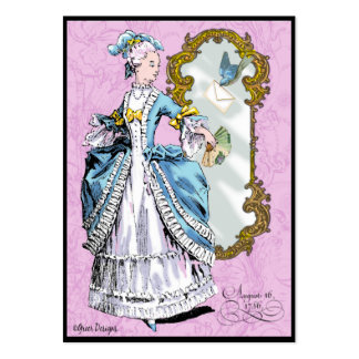Marie Antoinette & Bluebird Pack Of Chubby Business Cards