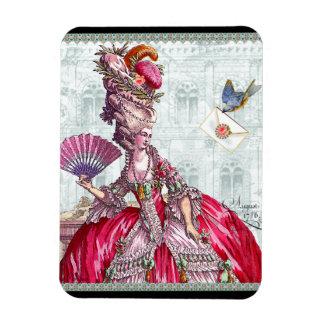 Marie Antoinette & Bluebird Rectangular Photo Magnet