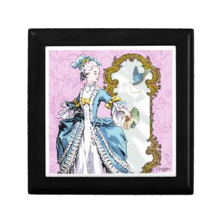 Marie Antoinette & Bluebird Small Square Gift Box