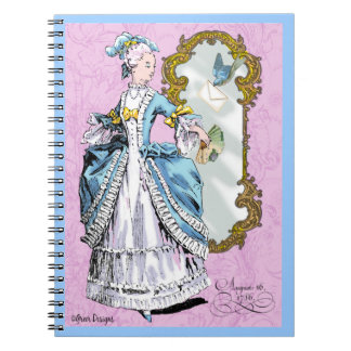 Marie Antoinette & Bluebird Spiral Note Books