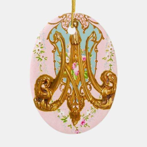Marie Antoinette Ceramic Monogram Ornament