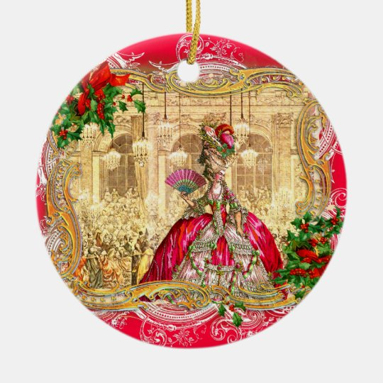 Marie Antoinette Christmas at Versailles Christmas Ornament