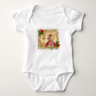 Marie Antoinette Christmas Ball Baby Bodysuit