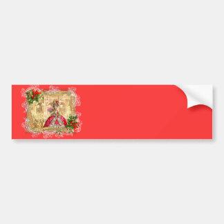 Marie Antoinette Christmas Ball Car Bumper Sticker