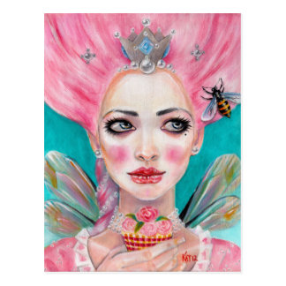 Marie Antoinette Cupcake Faerie - Queen Bee Postcard