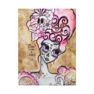Marie Antoinette, Dia de los Muertos Gallery Wrap Canvas