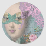 MARIE ANTOINETTE French Masquerade Round Stickers