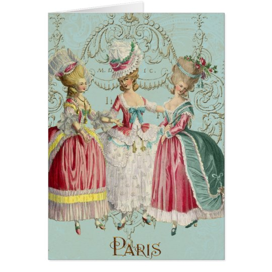 Marie Antoinette French Paris Ladies Card