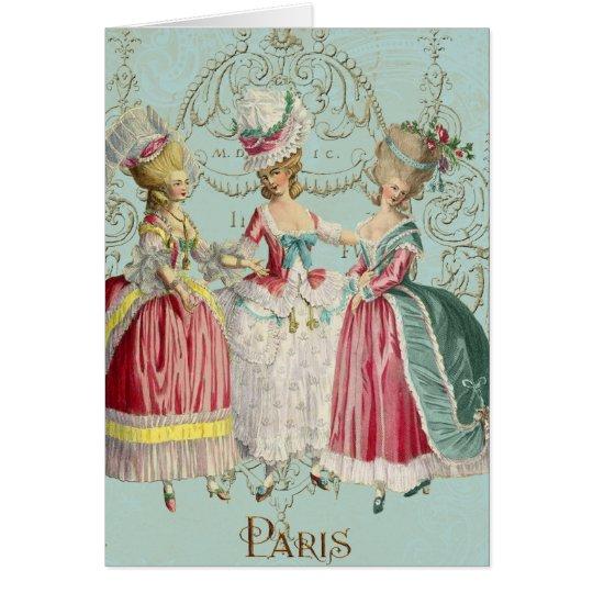 Marie Antoinette French Paris Ladies Greeting Card