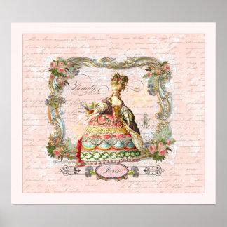 Marie Antoinette French Script Print