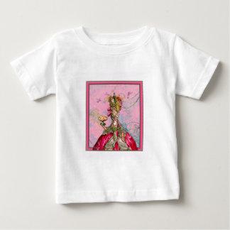 Marie Antoinette Hot Pink & Peacock Baby T-Shirt
