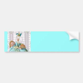 Marie Antoinette in Aqua Car Bumper Sticker