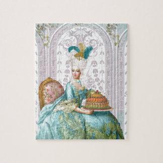 Marie Antoinette in Aqua Jigsaw Puzzle