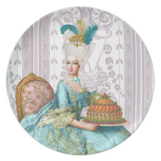 Marie Antoinette in Aqua with Cake Plate