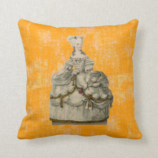 Marie Antoinette in Extravagant Dress Pillow Cushion