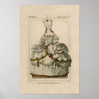 Marie Antoinette in Extravagant Dress Poster