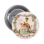 Marie Antoinette in Pink Pinback Buttons