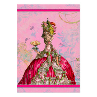 Marie Antoinette in Pink with Peacock Pack Of Chubby Business Cards