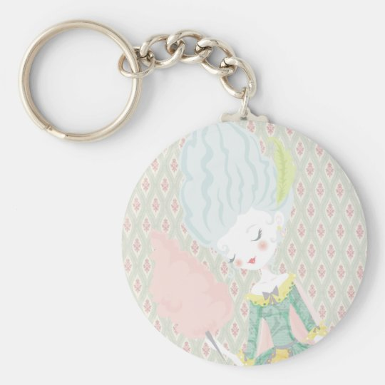 Marie Antoinette Keychan Basic Round Button Key Ring