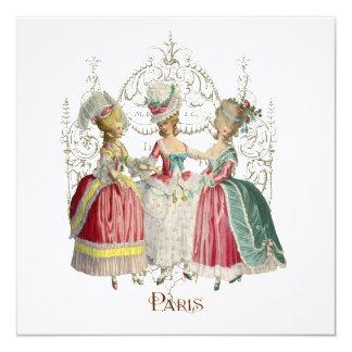 Marie Antoinette Ladies in Waiting 13 Cm X 13 Cm Square Invitation Card