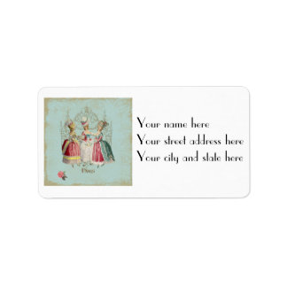 Marie Antoinette Ladies in Waiting Address Label