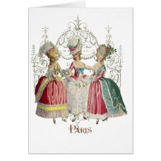 Marie Antoinette Ladies in Waiting Greeting Card