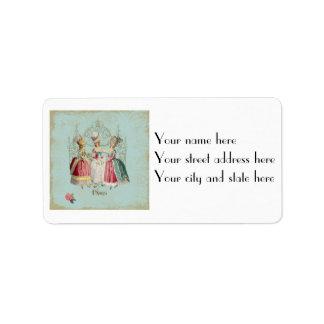 Marie Antoinette Ladies in Waiting Label