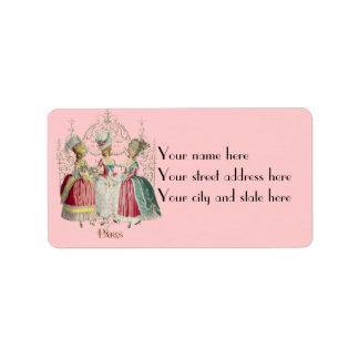 Marie Antoinette Ladies in Waiting Labels
