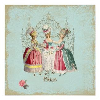 Marie Antoinette Ladies in Waiting Paris Custom Invites