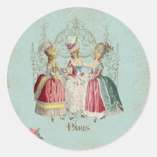 Marie Antoinette Ladies in Waiting Round Sticker
