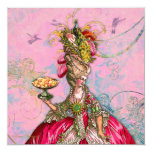 Marie Antoinette Let them Eat Cake 13 Cm X 13 Cm Square Invitation Card