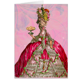 Marie Antoinette Let Them Eat Cake Note Card