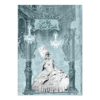 Marie Antoinette Let Us Eat Cake Invitations 5 x 7