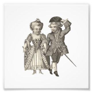 Marie Antoinette Louis XVI Vintage Costumes Photo Print