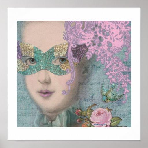 Marie Antoinette Masquerade Poster