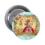 Marie Antoinette Party at Versailles in Aqua 6 Cm Round Badge