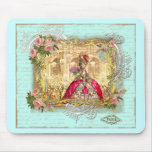 Marie Antoinette Party at Versailles in Aqua Mouse Mats