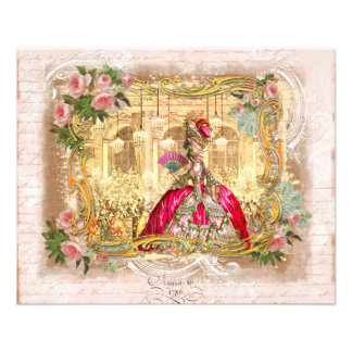 Marie Antoinette Party in Pink at Versailles 11.5 Cm X 14 Cm Flyer