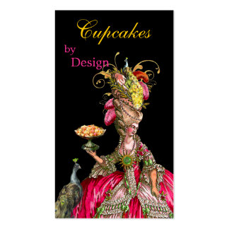 Marie Antoinette peacock and cake Pack Of Standard Business Cards