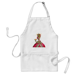 Marie Antoinette peacock and cake Standard Apron