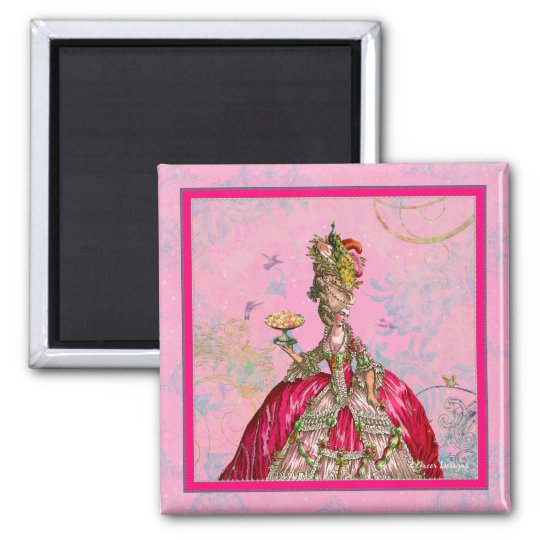 Marie Antoinette Peacock and Cakes Magnet