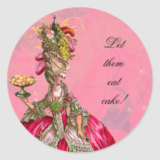 Marie Antoinette Peacock French Pastry Stickers